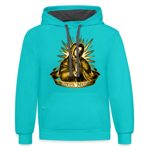Querida Madre by RollinLow - Contrast Hoodie