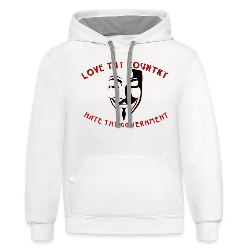 love thy country - Unisex Contrast Hoodie