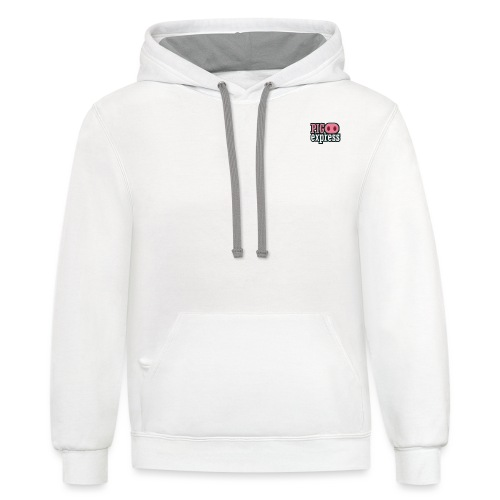 Logo, no text on back - Contrast Hoodie