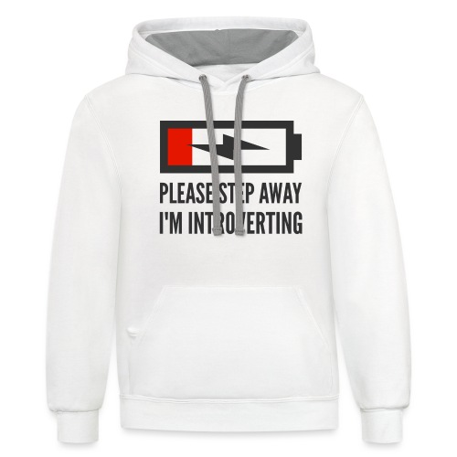 introverting - Unisex Contrast Hoodie