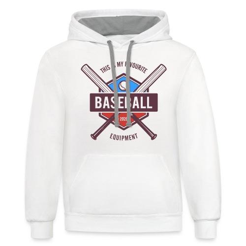 baseball - Unisex Contrast Hoodie