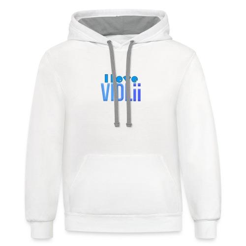 I Love VidLii - Unisex Contrast Hoodie