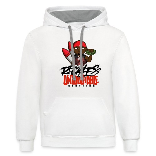 Reckless and Untouchable_1 - Unisex Contrast Hoodie