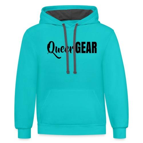 Queer Gear T-Shirt - Unisex Contrast Hoodie