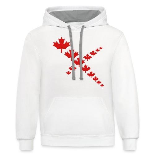 Maple Leafs Cross - Unisex Contrast Hoodie