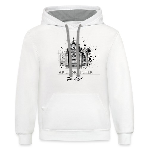 Archisketcher for Life! by Jack L Barton - Unisex Contrast Hoodie