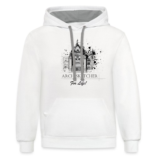 Archisketcher for Life! by Jack L Barton - Contrast Hoodie