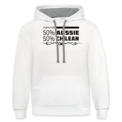 AUSSIE AND CHILEAN - Contrast Hoodie