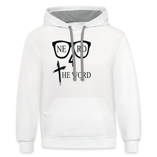 Nerd 4 The Word Design png - Contrast Hoodie