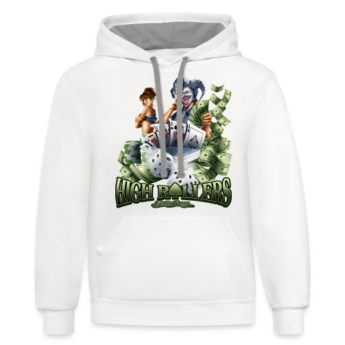 High Roller by RollinLow - Unisex Contrast Hoodie