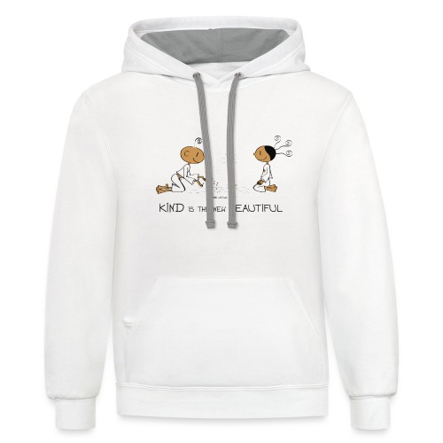 Kind is the new beautiful - Unisex Contrast Hoodie