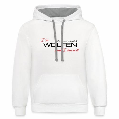 Wolfen Attitude on Light - Unisex Contrast Hoodie