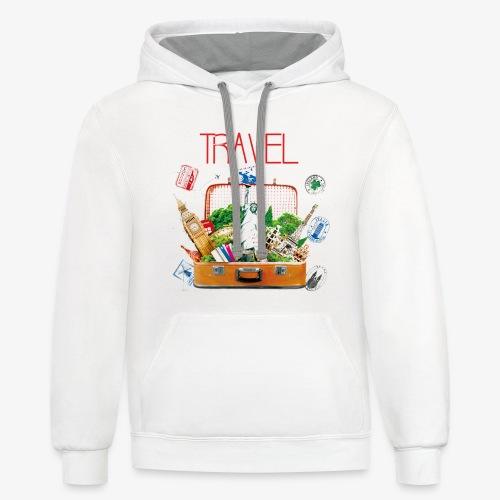 TRAVEL T-SHIRT - Contrast Hoodie