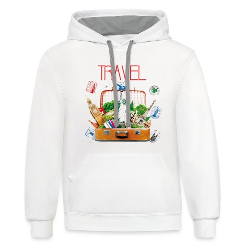 TRAVEL T-SHIRT - Contrast Hoodie