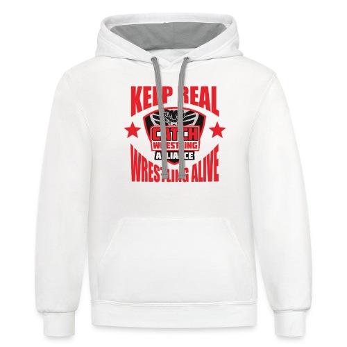 Keep Real Wrestling Alive - Unisex Contrast Hoodie