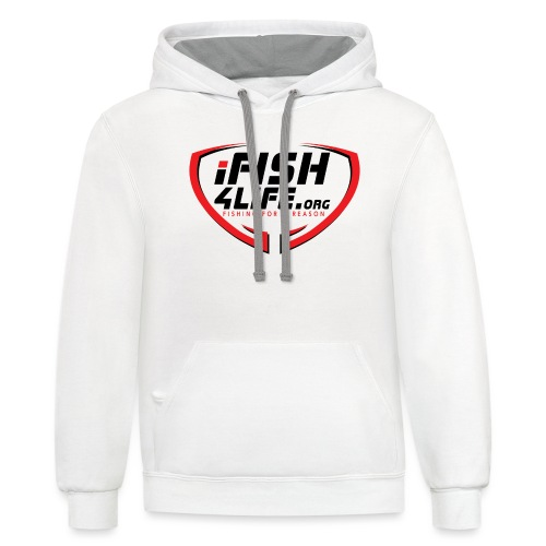 iFish4Life.org - Unisex Contrast Hoodie