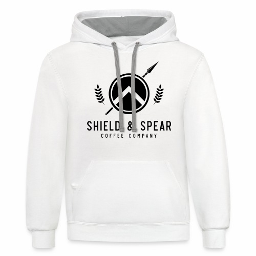 Shield and Spear Black Logo - Contrast Hoodie