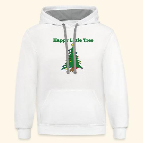 Christmas Tree HAPPY TREE TEE - Contrast Hoodie