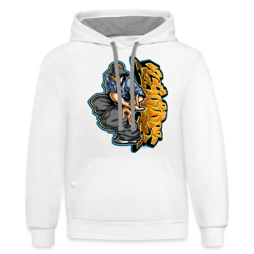 Cholo Hands by RollinLow - Unisex Contrast Hoodie