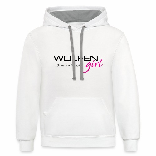 Wolfen Girl on Light - Unisex Contrast Hoodie