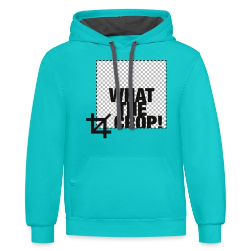 What the Crop! - Contrast Hoodie