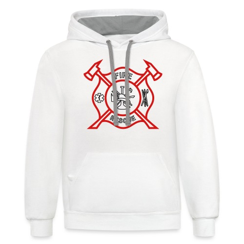 Fire Rescue - Unisex Contrast Hoodie