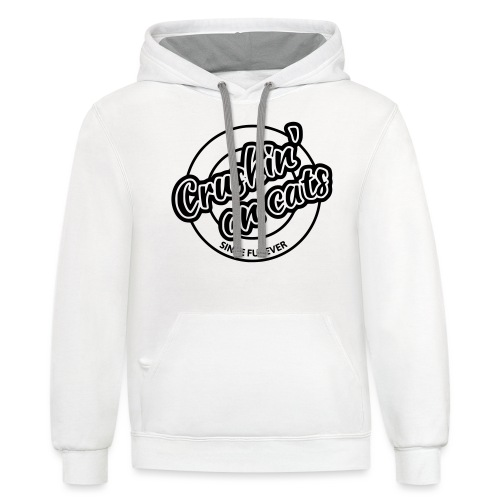 Crushing on cats - Contrast Hoodie