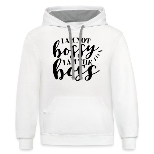 i am the boss - Unisex Contrast Hoodie