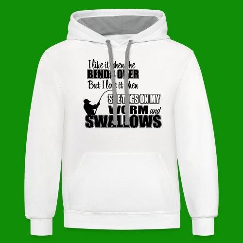 Worm & Swallows - Unisex Contrast Hoodie