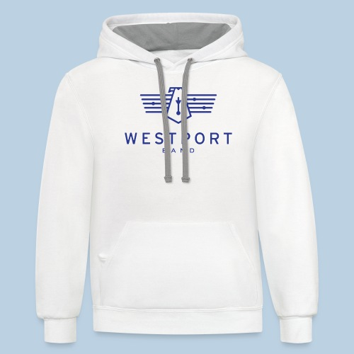 Westport Band Blue on transparent - Unisex Contrast Hoodie