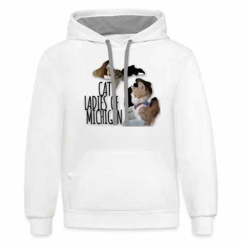 Cat Ladies of Michigan - Contrast Hoodie
