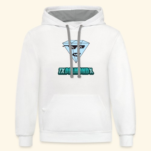 Txdiamondx Diamond Guy Logo - Contrast Hoodie