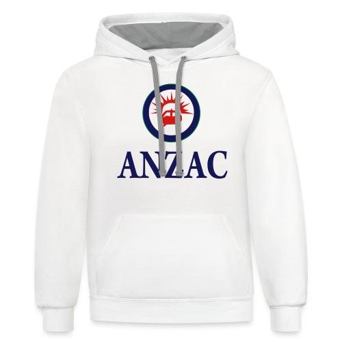 Team ANZAC - Unisex Contrast Hoodie