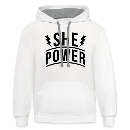 She Power - Contrast Hoodie