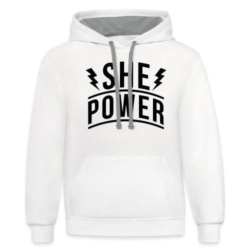 She Power - Unisex Contrast Hoodie