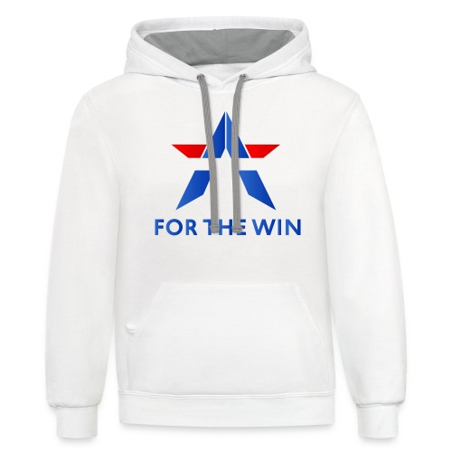 For The Win Merch - Unisex Contrast Hoodie
