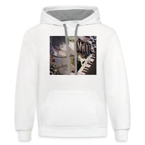 Dark Piano 1 - Contrast Hoodie