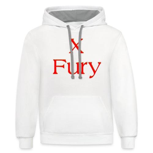 X Fury - Unisex Contrast Hoodie