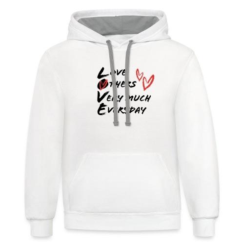 L.O.V.E Show Original Genuine Merchandise - Unisex Contrast Hoodie