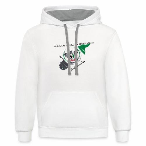 t shirt design - Unisex Contrast Hoodie