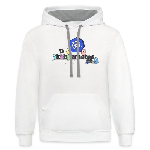 kubernetes golang - Unisex Contrast Hoodie