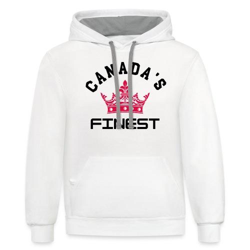 Canada s Finest 1 - Unisex Contrast Hoodie