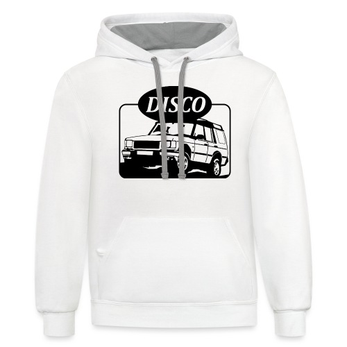 Land Rover Discovery illustration - Unisex Contrast Hoodie
