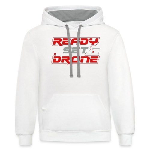 Ready Set Drone - Unisex Contrast Hoodie