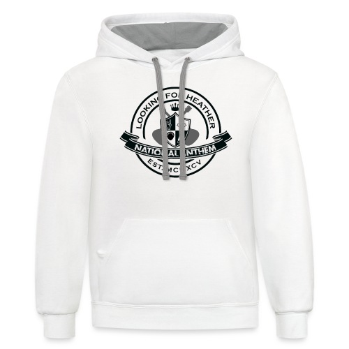 Looking For Heather - National Anthem Crest - Unisex Contrast Hoodie