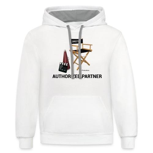 Mac Productions Authorized Partner Logo - Unisex Contrast Hoodie