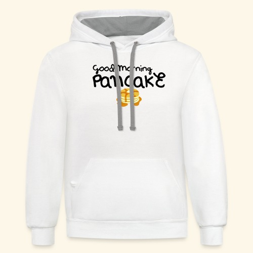 Good Morning Pancake Mug - Contrast Hoodie