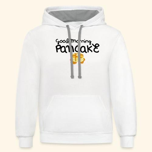 Good Morning Pancake Mug - Unisex Contrast Hoodie