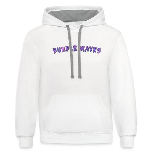 Purple Waves - Contrast Hoodie