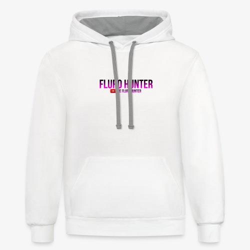 The Fluro Hunter Black And Purple Gradient - Contrast Hoodie